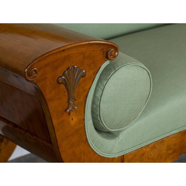 1920s Swedish Grace Biedermeier Satinwood Sofa For Sale In Houston - Image 6 of 11