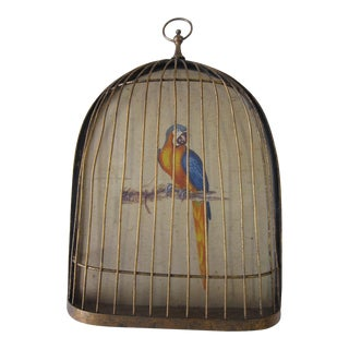 Italian Gilt Cage Hanging For Sale