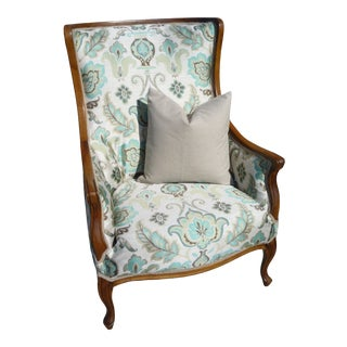 French Provincial Wingback Chair For Sale
