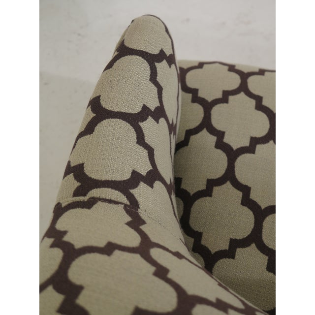 Modern Century Geometric Print Upholstered Club Chairs- A Pair For Sale In Philadelphia - Image 6 of 12