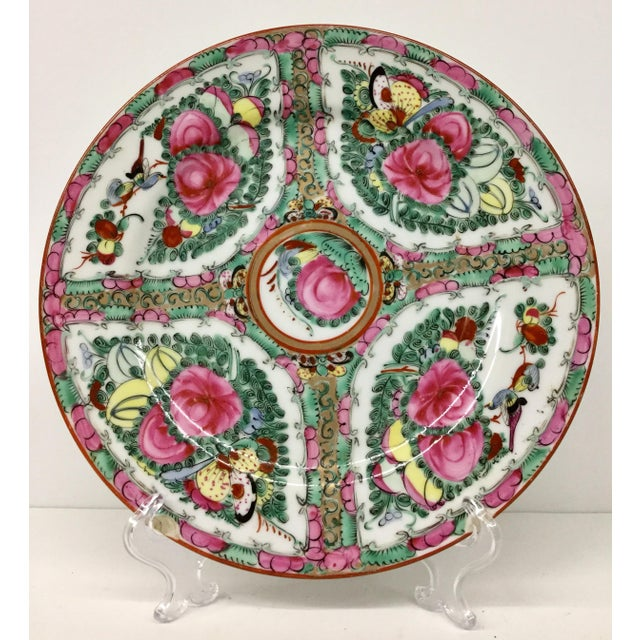 1940s Asian Hand Painted Decorative Plate For Sale - Image 10 of 10