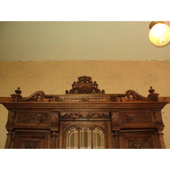 Antique Walnut Court Cabinet Cupboard - Image 5 of 7
