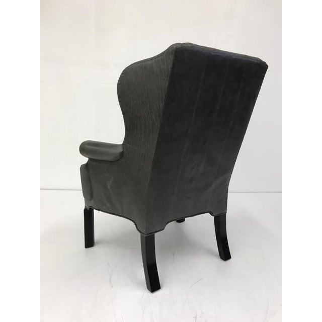 Transitional Thomas O'Brien Shane Wing Chair for Century Furniture For Sale - Image 3 of 4