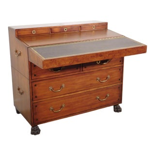 Thomasville Ernest Hemingway Empire Clawfoot Campaign Desk Secretary Chest For Sale