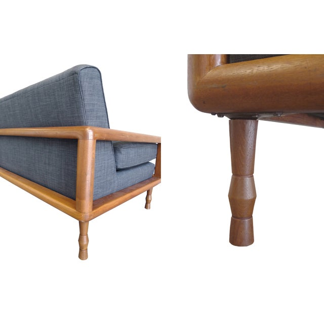 In the Style of T.H. Robsjohn-Gibbings Mid-Century Sofa & Armchair Set - Image 5 of 9