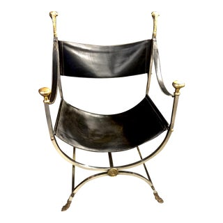 Maison Jansen Curule Savonarola Chair For Sale
