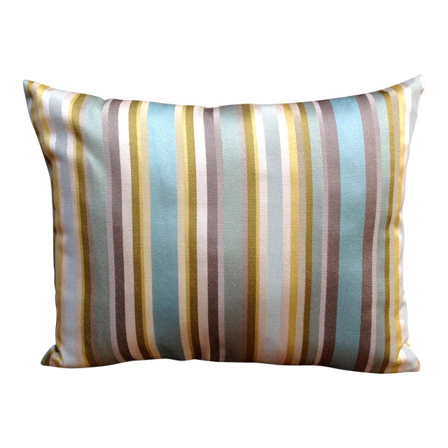 Multicolored Striped Pillow - Image 1 of 3