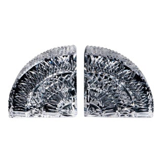 """Waterford Crystal """"Quadrant"""" Bookends - a Pair For Sale"""