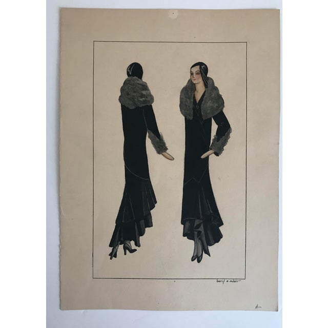 Twelve Fashion Designs by University of Washington Student, 1929 For Sale - Image 10 of 13