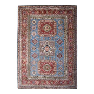 """Blue Oversize Kazak Wool Hand-Knotted Oriental Rug - 12'2"""" x 15'3"""" For Sale"""