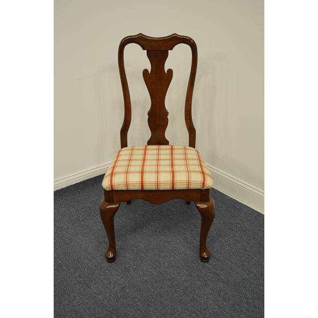 Queen Anne Keller Furniture Solid Cherry Traditional Queen Anne Style Side Chair For Sale - Image 3 of 12