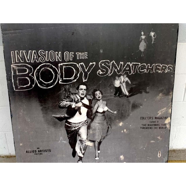 Black Invasion of the Body Snatchers, Black & White Movie Theatre Poster, 1956 For Sale - Image 8 of 13