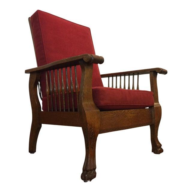 Antique Tiger Oak Morris Reclining Chair - Antique Tiger Oak Morris Reclining Chair Chairish