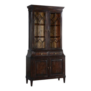 China Cabinet Rosalind Classic Solid Wood Dark For Sale