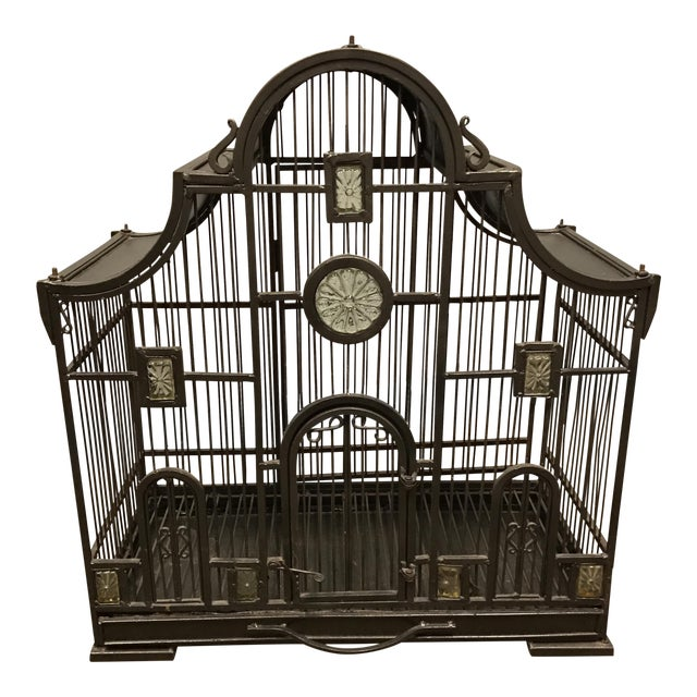Victorian Wrought Iron Bird Cage - Image 1 of 7