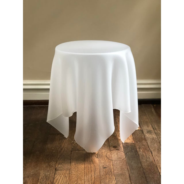 Acrylic Handkerchief Table For Sale - Image 13 of 13
