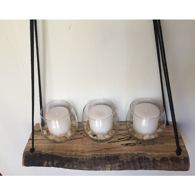Large Wooden Macrame Hanger - Image 5 of 6