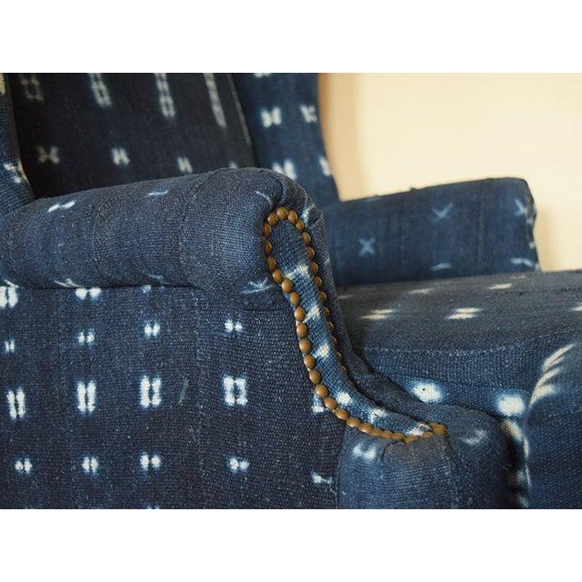 Indigo Mali Mudcloth Wingback Chair - Image 7 of 9