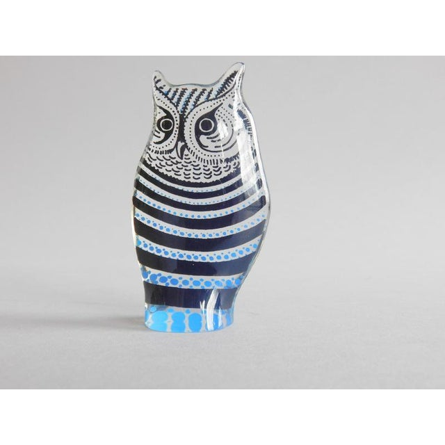 Modern Vintage Abraham Palatnik Op Art Lucite Owl For Sale - Image 3 of 7
