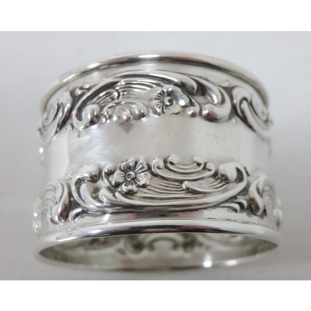 1940s Vintage Victorian Gorham Sterling Silver Napkin Rings - a Pair For Sale - Image 5 of 12