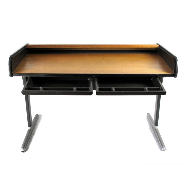 George Nelson for Herman Miller mid-century roll-top desk. Designed in 1964.