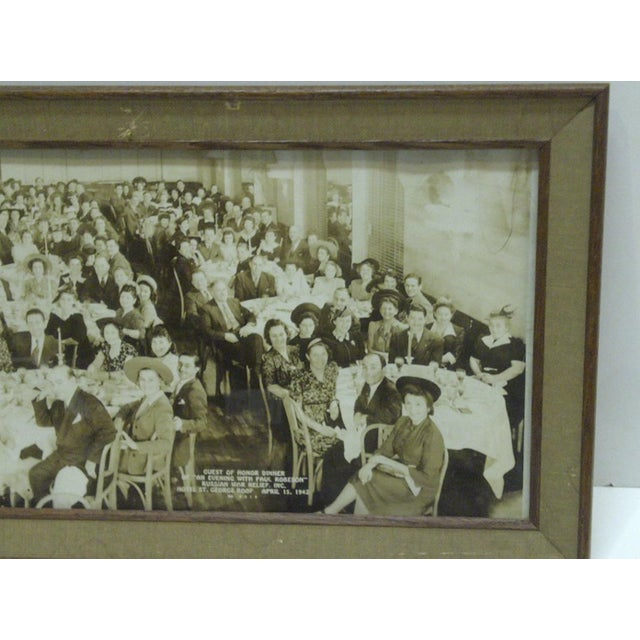 1942 Vintage Russian War Relief Dinner Photograph For Sale - Image 4 of 6