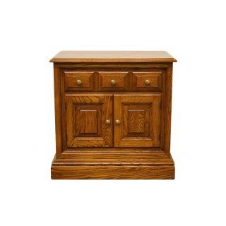 20th Century Traditional Pennsylvania House Solid Oak Cabinet Nightstand