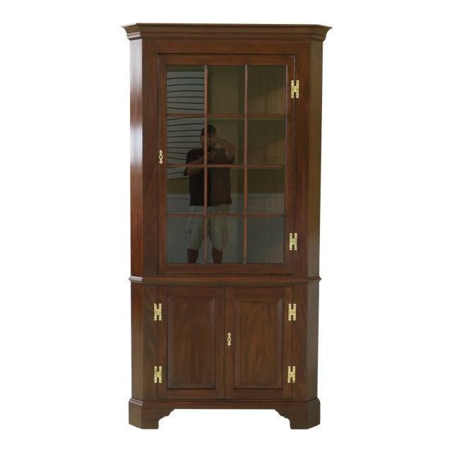 Henkel Harris Model 1114 Mahogany Large Corner Cabinet For Sale