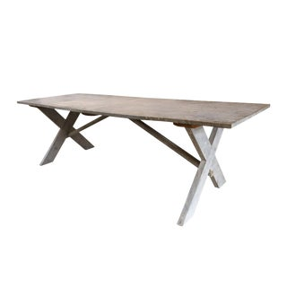 Vintage Zinc-Covered Table