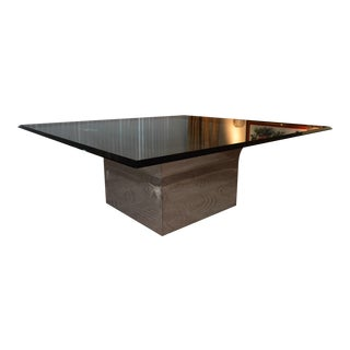 J Robert Scott Square Sculpture Base Dining Table For Sale