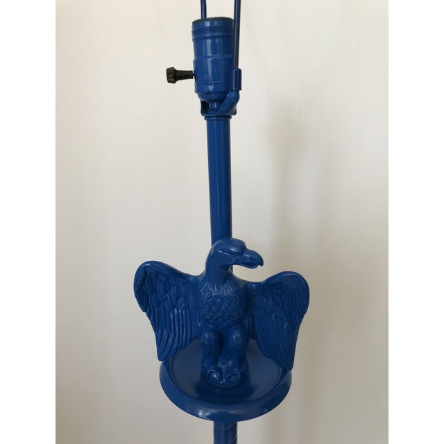 Vintage Royal Blue Federal Style Eagle Floor Lamp For Sale - Image 10 of 13