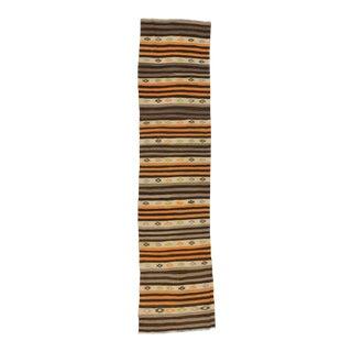 Striped Vintage Kilim Runner - 2′8″ × 11′3″ For Sale