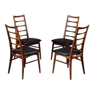 Koefoed 'Lis' Danish Modern Rosewood Dining Chairs - Set of 4 For Sale