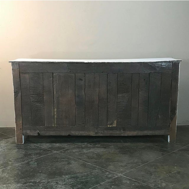 18th Century Country French Whitewashed Buffet For Sale - Image 12 of 13