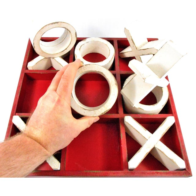 Rustic Wood Tic Tac Toe Game For Sale - Image 4 of 9