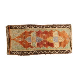 "Vintage Distressed Oushak Rug Mat - 1'6"" X 3'2"" For Sale"