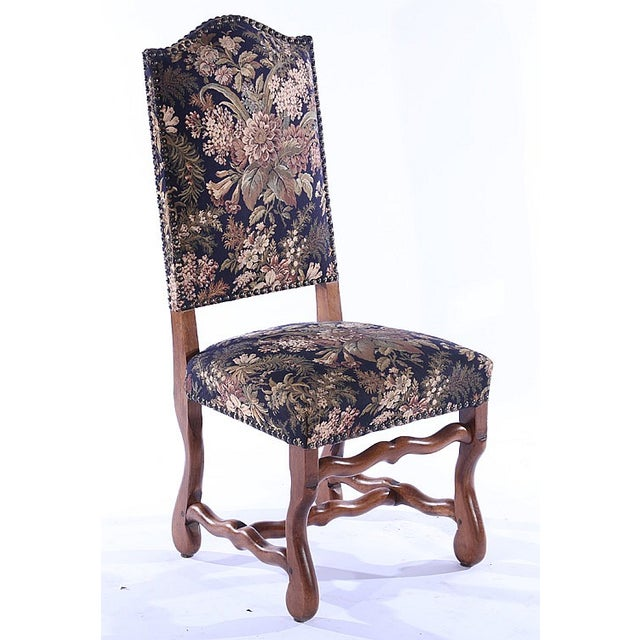 French Upholstered Dining Chairs - Set of 6 - Image 4 of 5