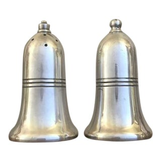 Antique Silver Plated Sheffield Salt and Pepper Shakers - a Pair For Sale