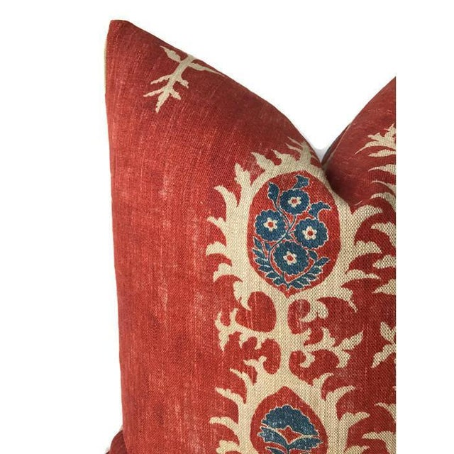Red Tribal Flame Pillow Cover For Sale - Image 4 of 7