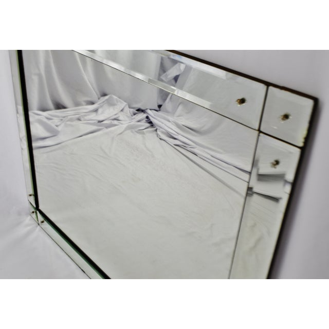 Early Beveled Wall Mirror with Glass Florets - Image 9 of 11