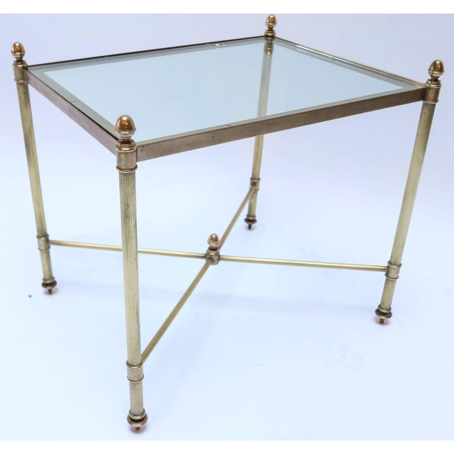 Metal 1960s Italian Brass Nesting Tables-Set of 3 For Sale - Image 7 of 10