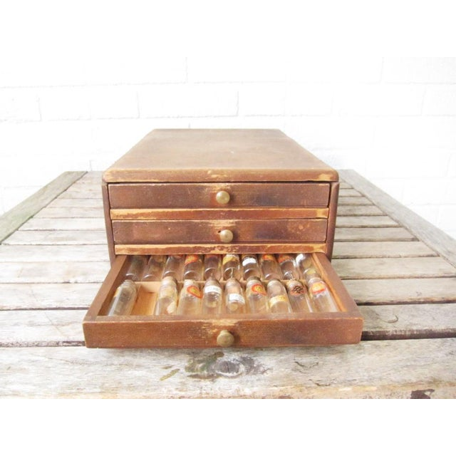 Vintage Watchmakers Wood Drawer Cabinet - Image 2 of 11