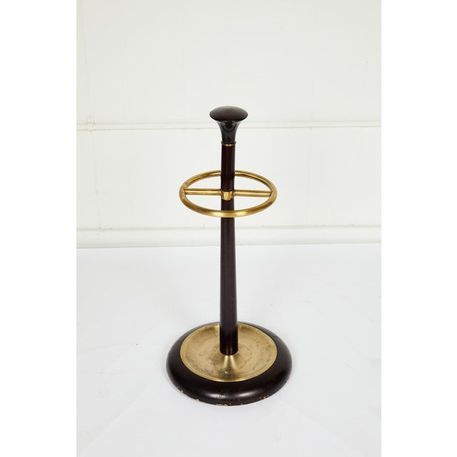 20th Century Brass and Mahogany Umbrella Stand For Sale - Image 11 of 13