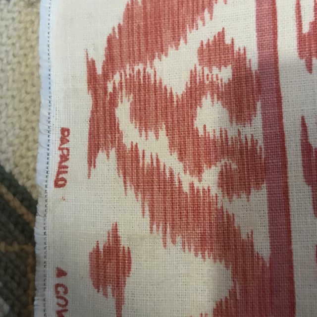 Cowtan & Tout Rapallo Coral Fabric For Sale In Raleigh - Image 6 of 9