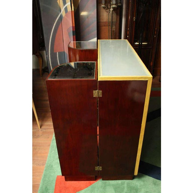 Tan Exceptional French Art Deco Bar by Andre Arbus For Sale - Image 8 of 10