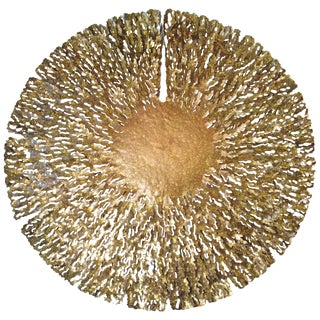 Bronze and Gold Iron Seaweed Wall Sculpture For Sale