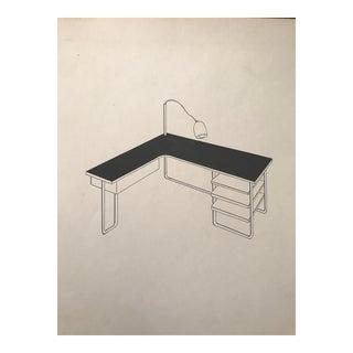 Ruth Opper 1944 Modern Desk Still Life For Sale