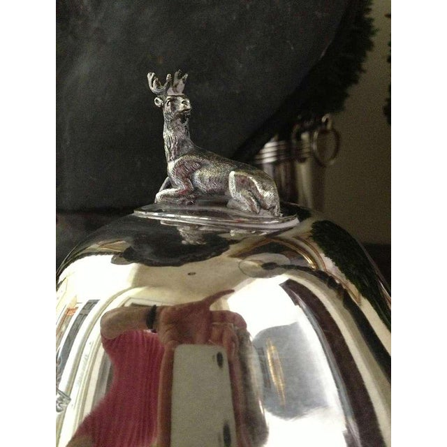 Metal Pair of Silver Sheffield Food Warmers For Sale - Image 7 of 9
