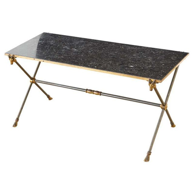 Maison Ramsay Marble Rams Head Cocktail Table For Sale - Image 13 of 13