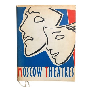 Vintage Soviet Union Moscow Theatre Picture Book For Sale